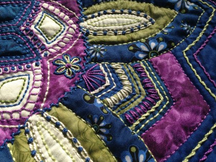 purple quilt mandala