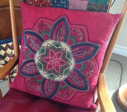 red pillow mandala