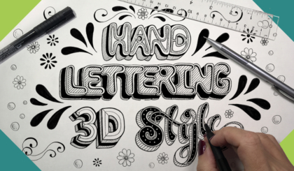 Hand Lettering 3D Style Course JSPCREATE