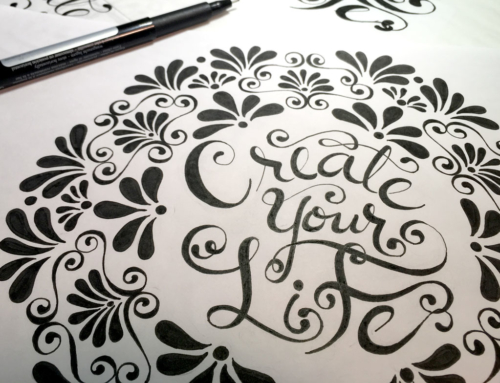 Hand Lettered Calligraphy With a Pencil