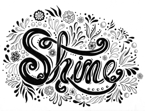 Hand Lettering with Illustration