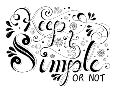 simplify keep it simple ink
