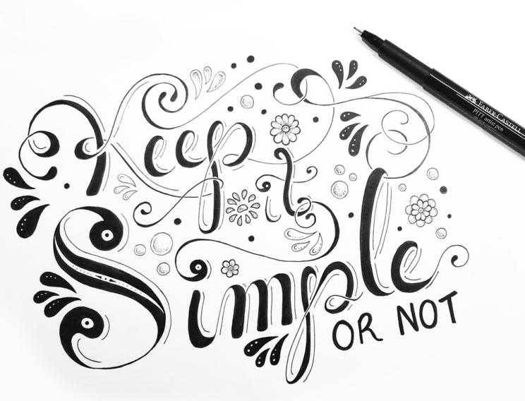 Simplify - Keep It Simple Final Ink