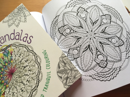 Mindful Mandalas Colouring Book designs