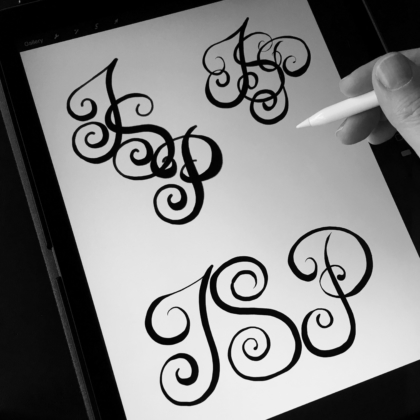 ipad pro apple pencil lettering