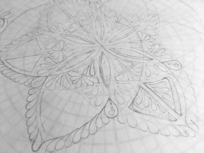 adding in shapes mandala drawing