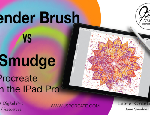 Blender Brush vs Smudge Tool in Procreate on the IPad