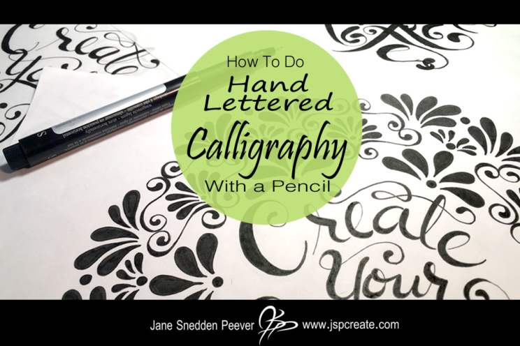 Calligraphy with a pencil jspcreate