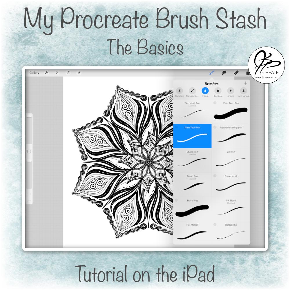 My Procreate Brush Stash - Basics - JSPCREATE