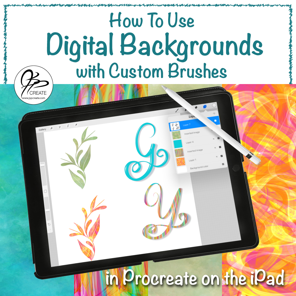 Using Digital Backgrounds with Procreate Brushes - JSPCREATE